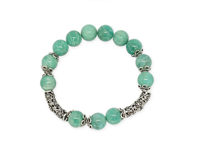 Silver Antique amazonite Bracelet  [SM16DB2]