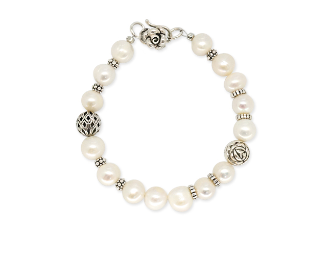 Silver Fesh-water pearl antique Bracelet [SM16DB5]