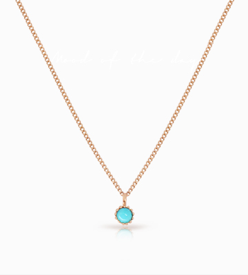 14K Antique. S Turquoise Necklace [GB16ND2]