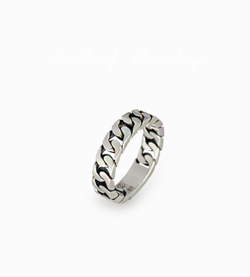 Silver Bold Chain Ring [SM16DR48]